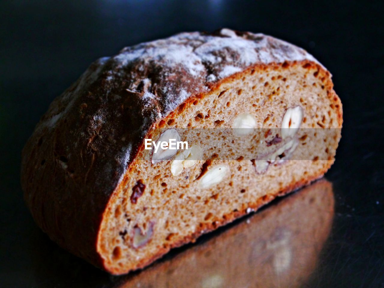 close-up, no people, bread, food and drink, indoors, food, black background, healthy eating, freshness, ready-to-eat, day
