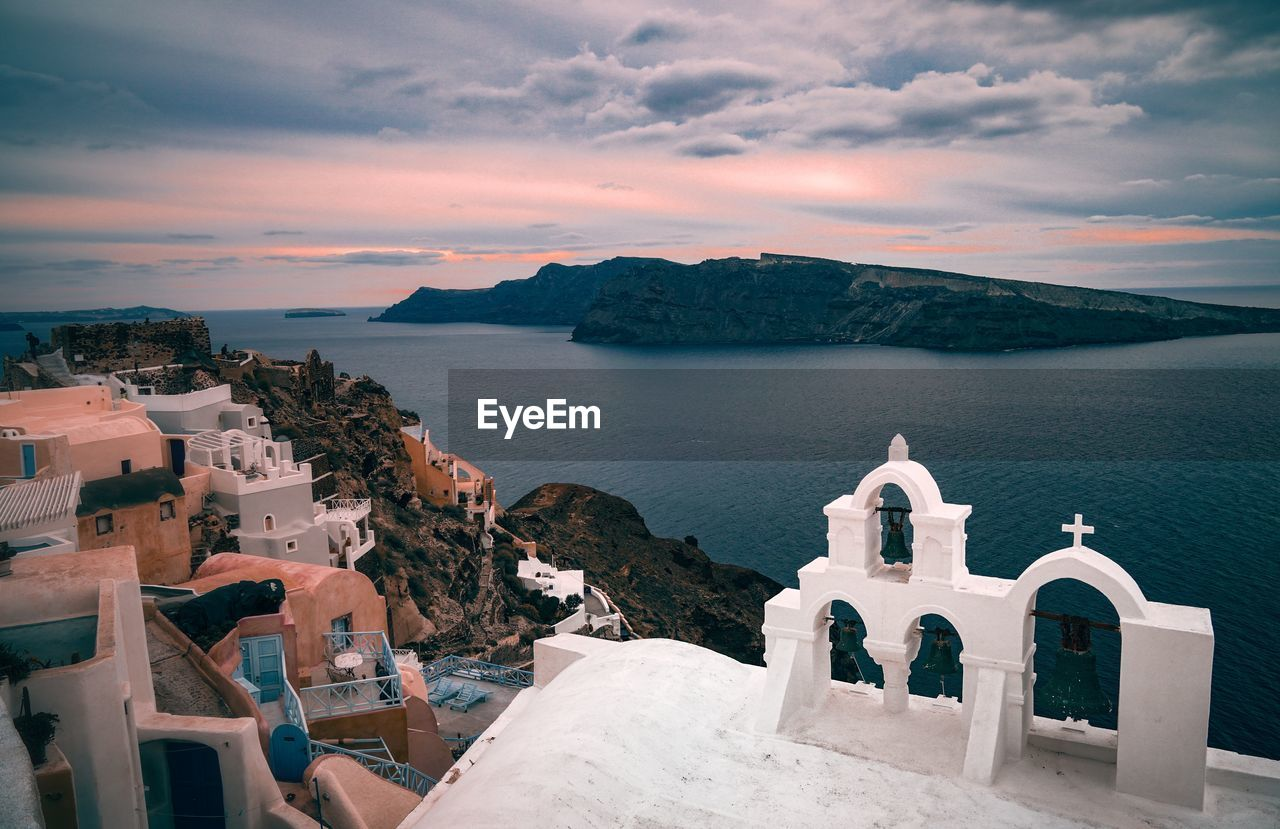 Church By Sea During Sunset At Santorini