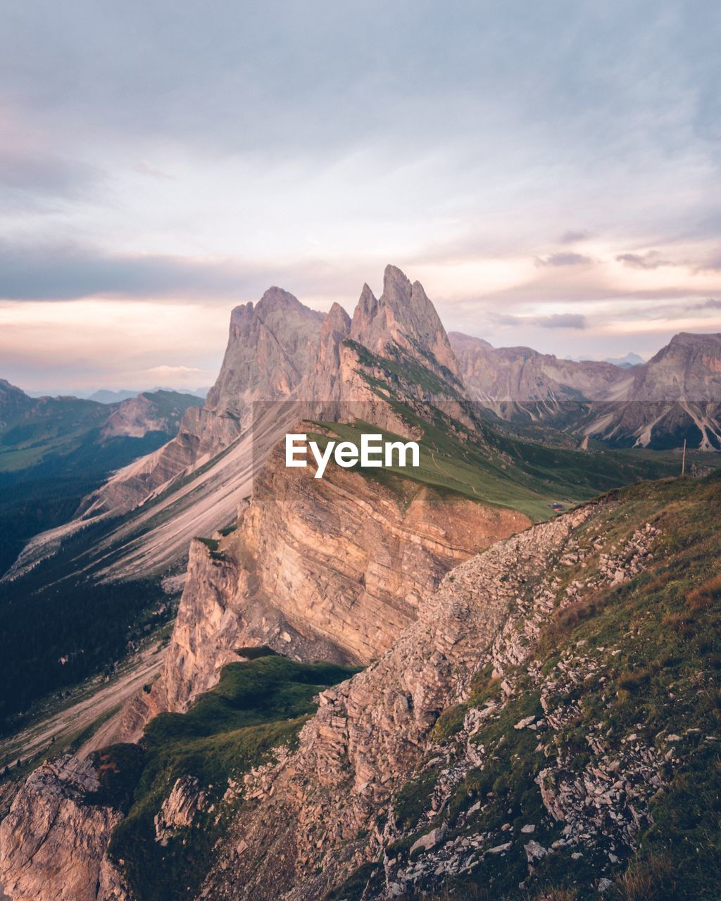 scenics - nature, sky, tranquil scene, beauty in nature, environment, mountain, landscape, cloud - sky, tranquility, non-urban scene, mountain range, nature, idyllic, no people, remote, day, land, outdoors, physical geography, rock, formation, mountain peak, eroded