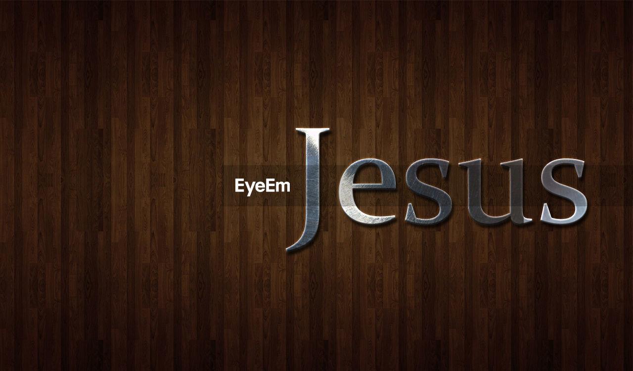 Close-Up Of Jesus Word