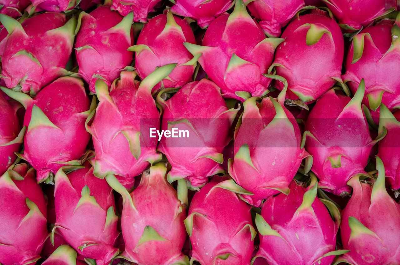 Full Frame Shot Of Pitayas For Sale At Market