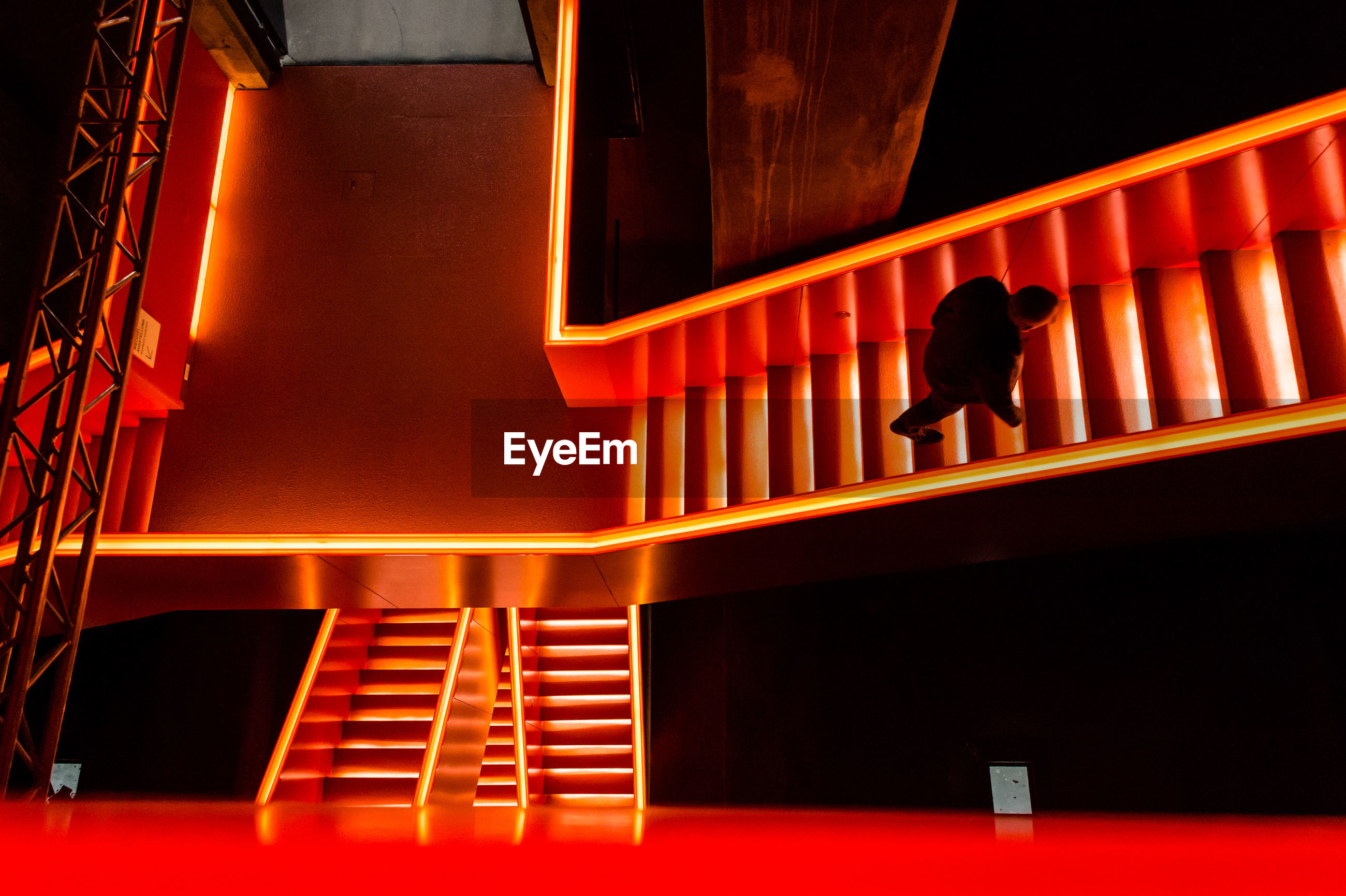 steps and staircases, staircase, steps, night, no people, indoors, illuminated, architecture