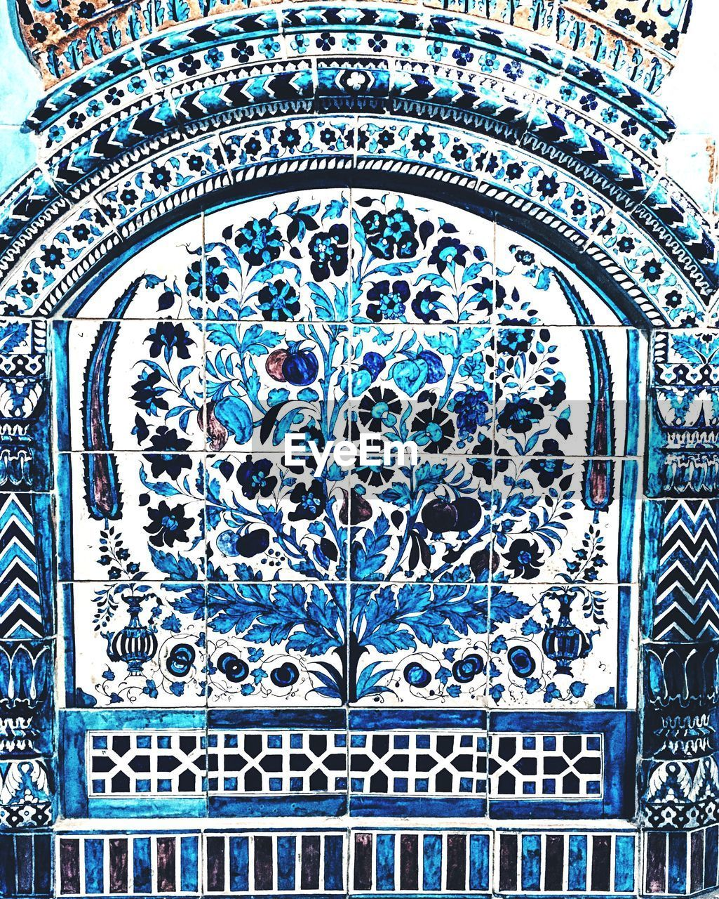window, pattern, full frame, day, blue, backgrounds, architecture, no people, close-up, built structure, place of worship, outdoors