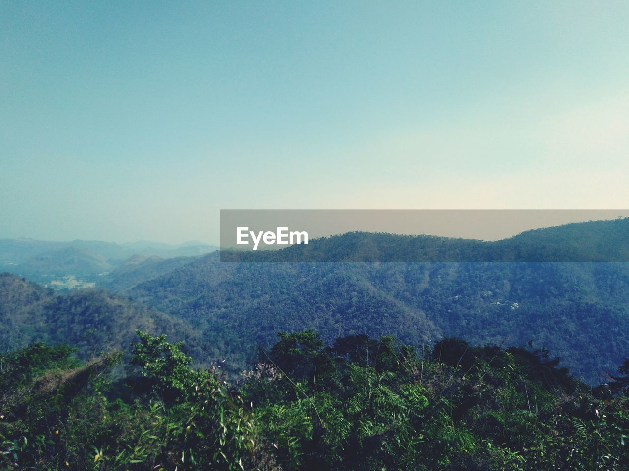 mountain, scenics - nature, sky, beauty in nature, tranquility, tranquil scene, environment, copy space, tree, landscape, plant, no people, nature, mountain range, non-urban scene, day, clear sky, idyllic, forest, outdoors