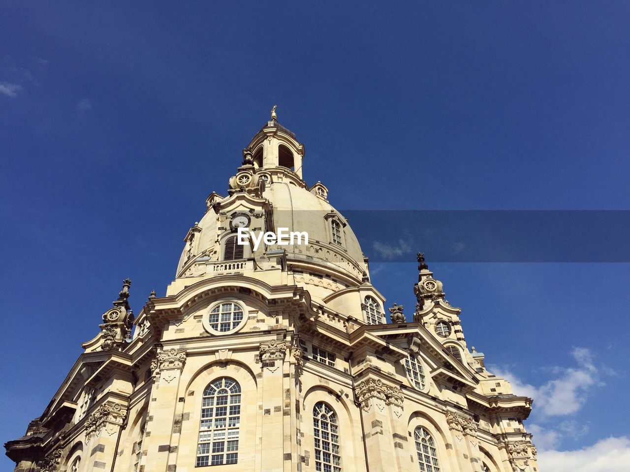 Low Angle View Of Dresden Frauenkirche Church