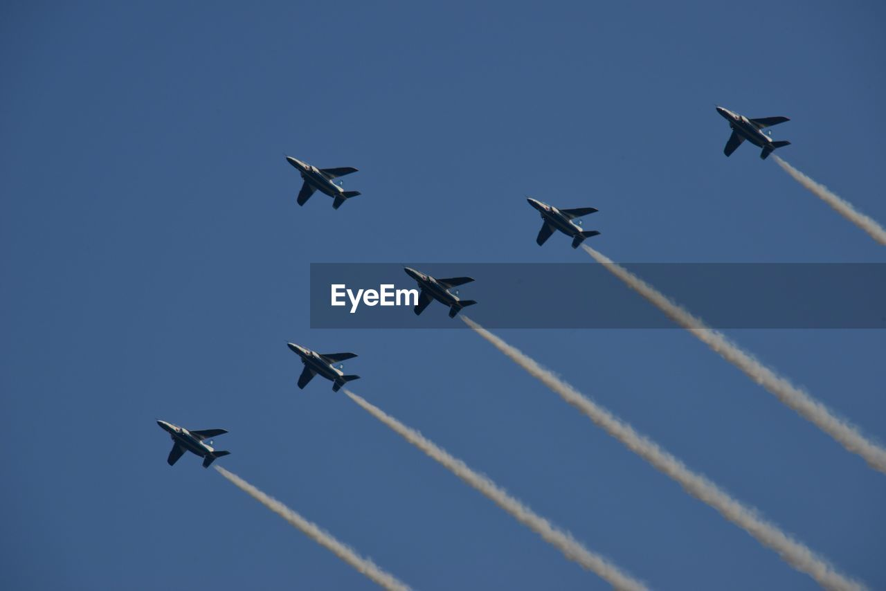 Group of planes in the sky
