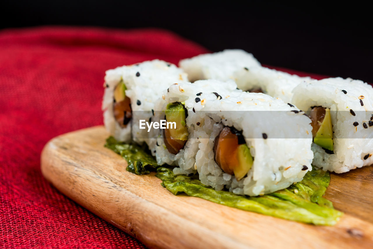 food, food and drink, rolled up, freshness, close-up, healthy eating, sushi, ready-to-eat, indoors, studio shot, garnish, no people, greek food, wrap sandwich