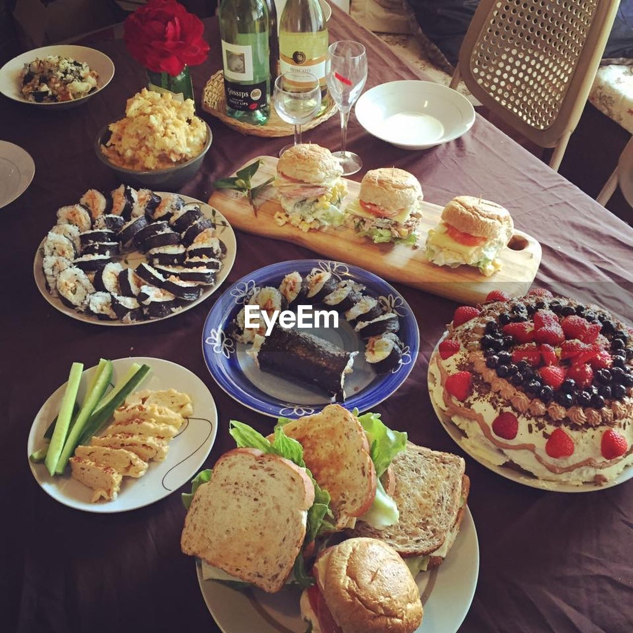 table, food and drink, plate, food, variation, high angle view, indoors, freshness, ready-to-eat, no people, day, close-up