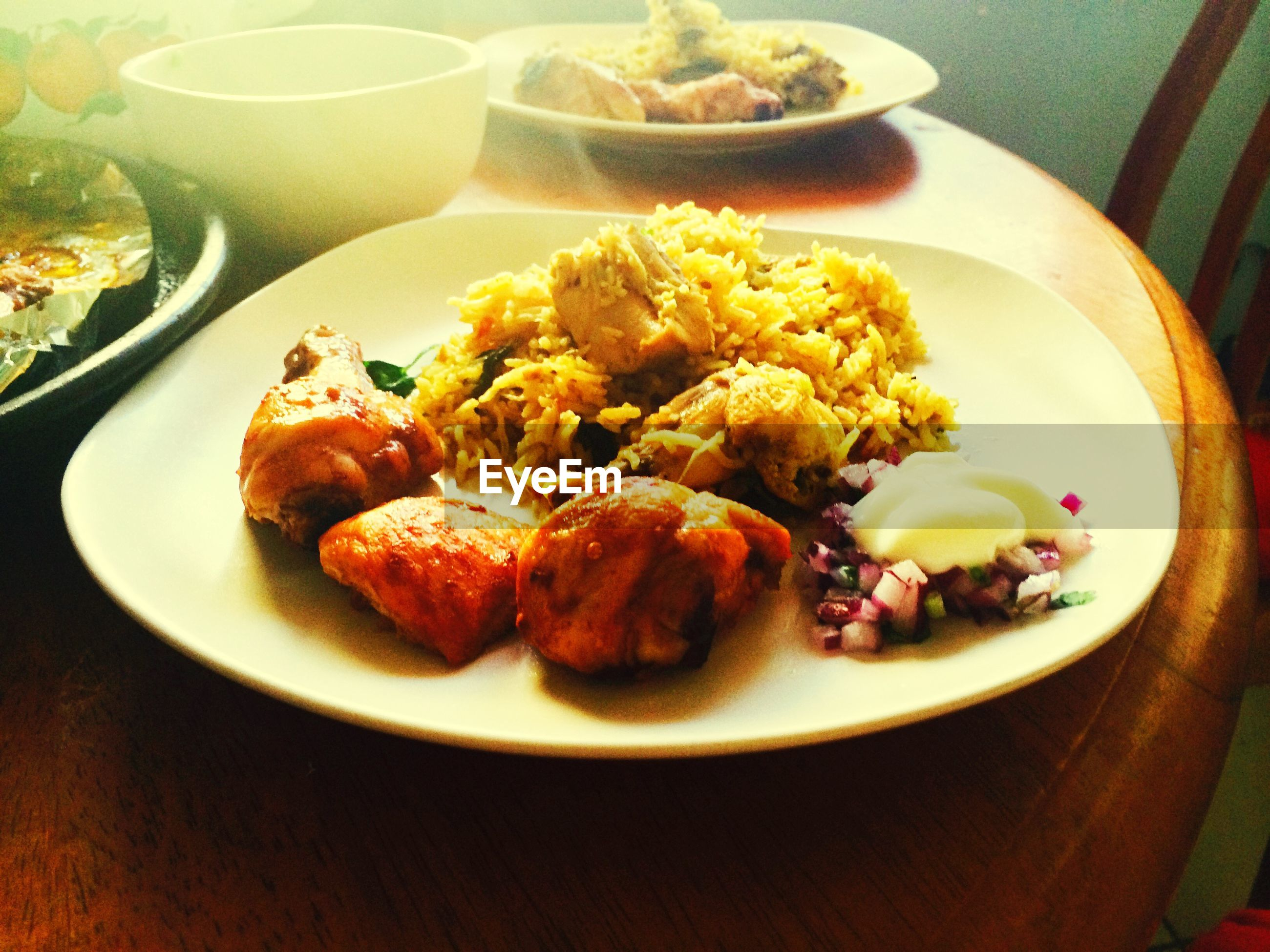 CLOSE-UP OF SERVED FOOD IN PLATE