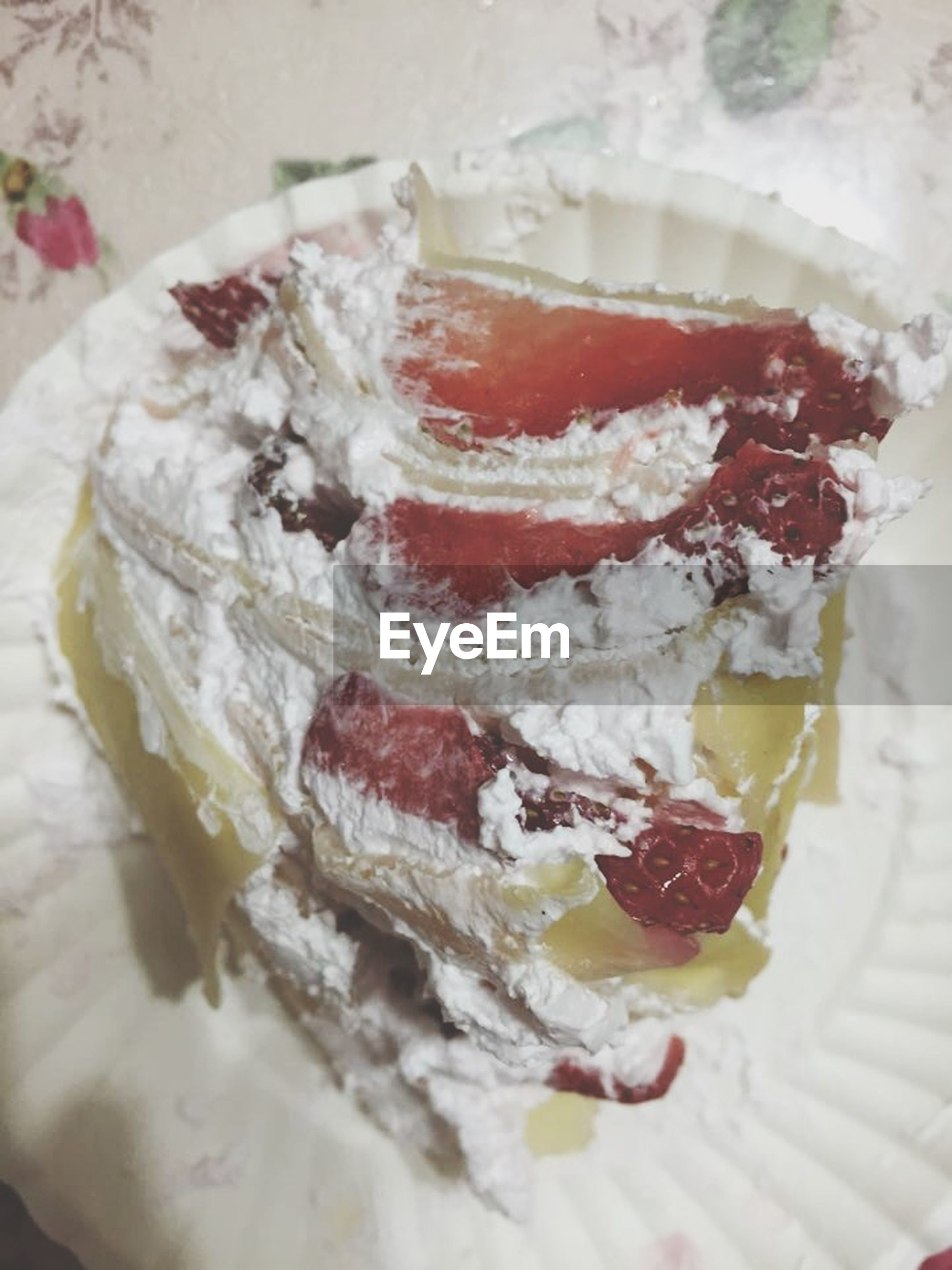 food and drink, food, freshness, indoors, ready-to-eat, sweet food, dessert, indulgence, still life, close-up, unhealthy eating, plate, temptation, cake, slice, table, serving size, fruit, strawberry, ice cream