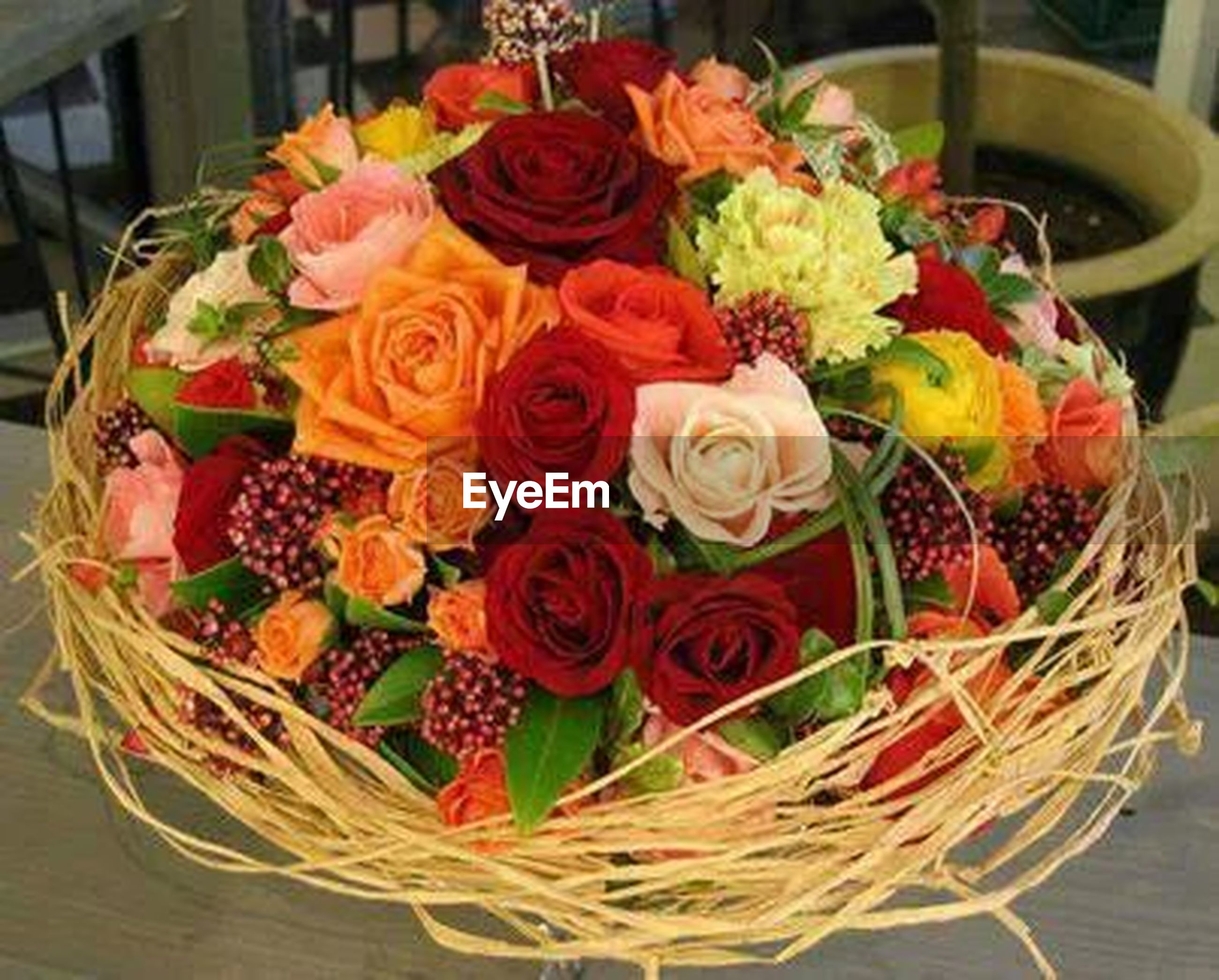 freshness, flower, indoors, fragility, bouquet, variation, high angle view, table, petal, bunch of flowers, vase, still life, flower head, beauty in nature, multi colored, flower arrangement, close-up, food and drink, abundance, rose - flower