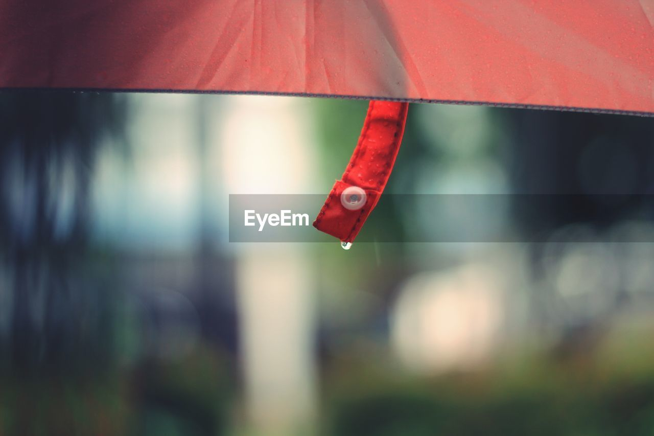 Close-Up Of Red Umbrella