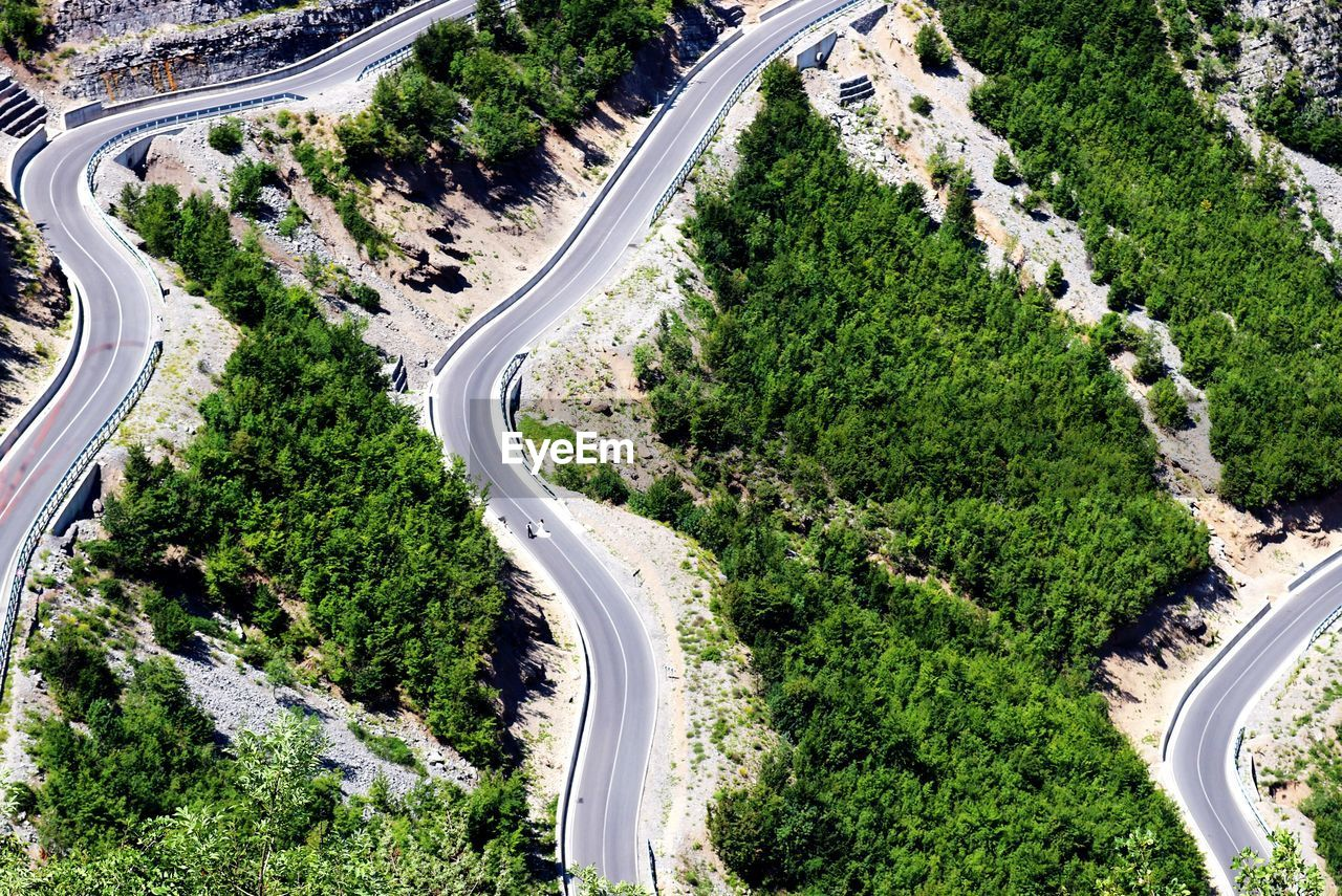 Aerial View Of Roads Amidst Landscape
