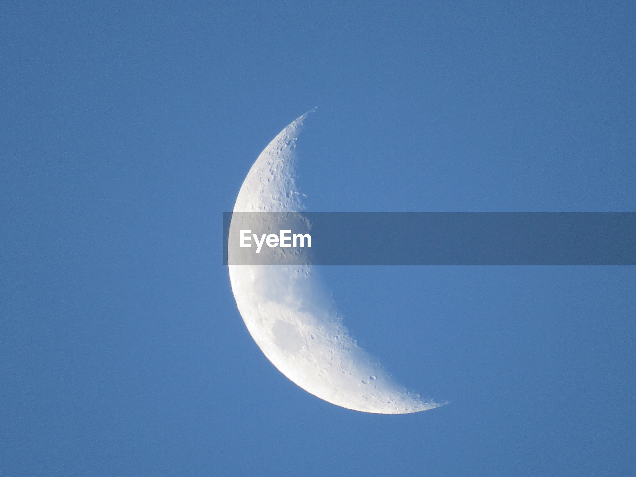 CLOSE-UP OF MOON IN SKY