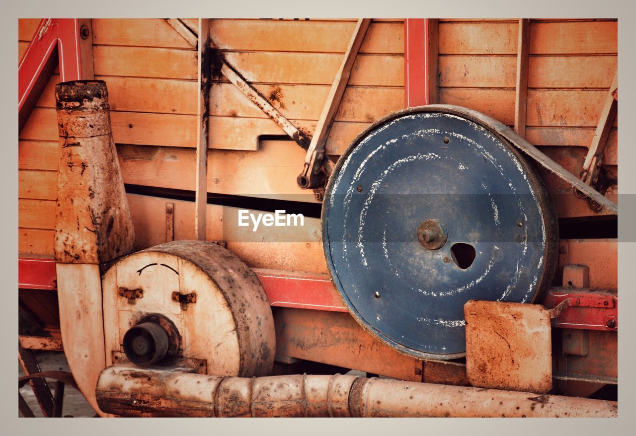 rusty, metal, abandoned, no people, indoors, day, close-up