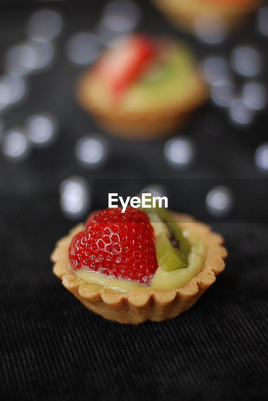 Close-Up Of Tarts On Table