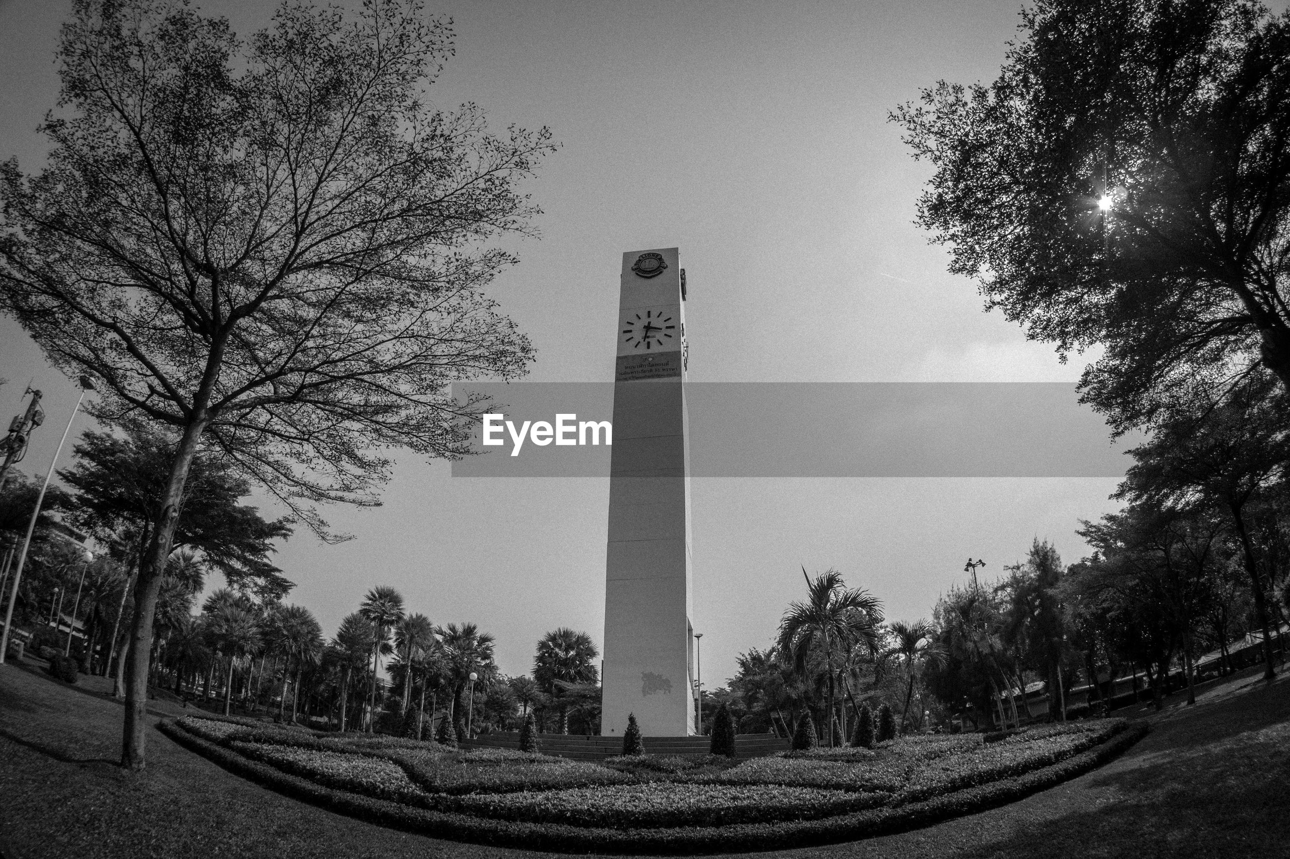 Clock tower in chatuchak park against clear sky