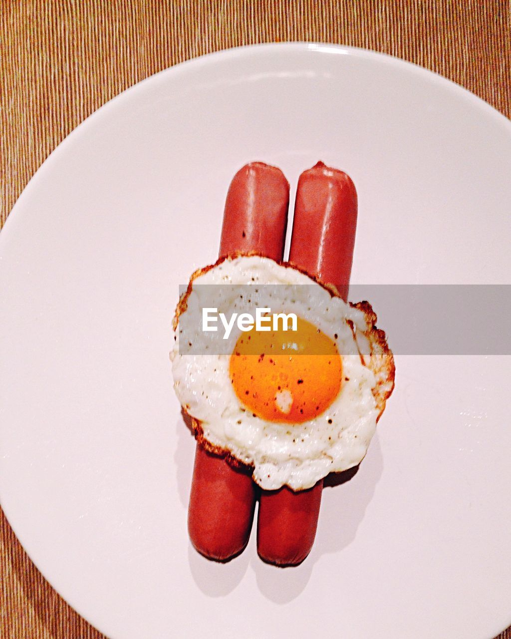 Close-Up Of Breakfast In Plate On Table