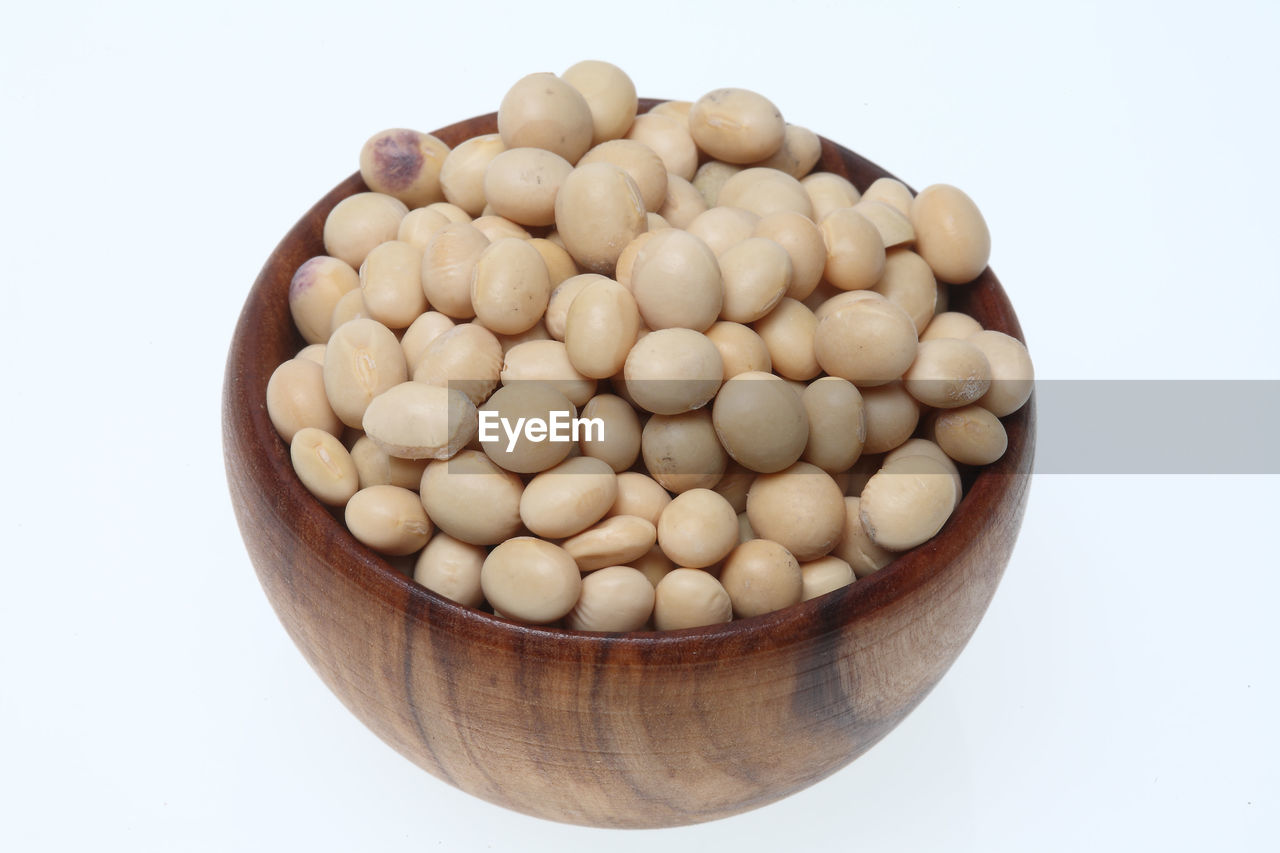 white background, studio shot, food and drink, food, still life, healthy eating, raw food, freshness, large group of objects, bowl, high angle view, no people, bean, close-up, legume family