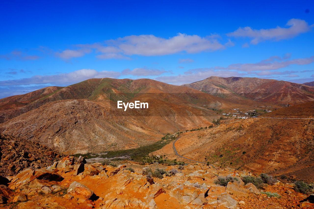 inside lands of Fuerteventura Desert Hill Arid Climate Sky Landscape Cloud - Sky