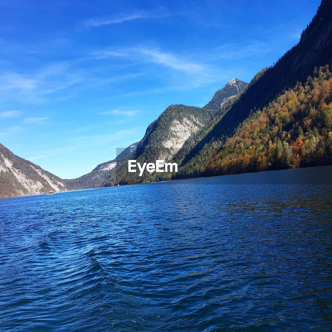 Mountains at lakeshore