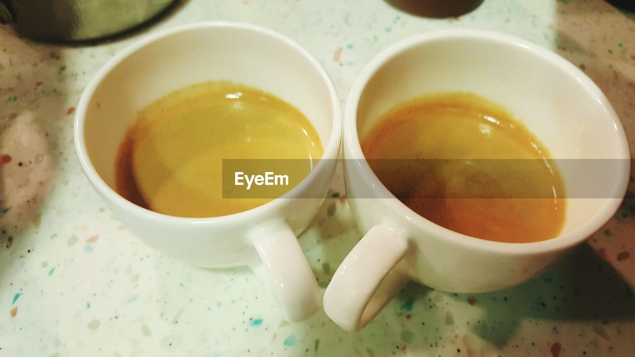 food and drink, freshness, indoors, food, no people, high angle view, drink, refreshment, table, healthy eating, serving size, bowl, close-up, tea - hot drink, ready-to-eat, day