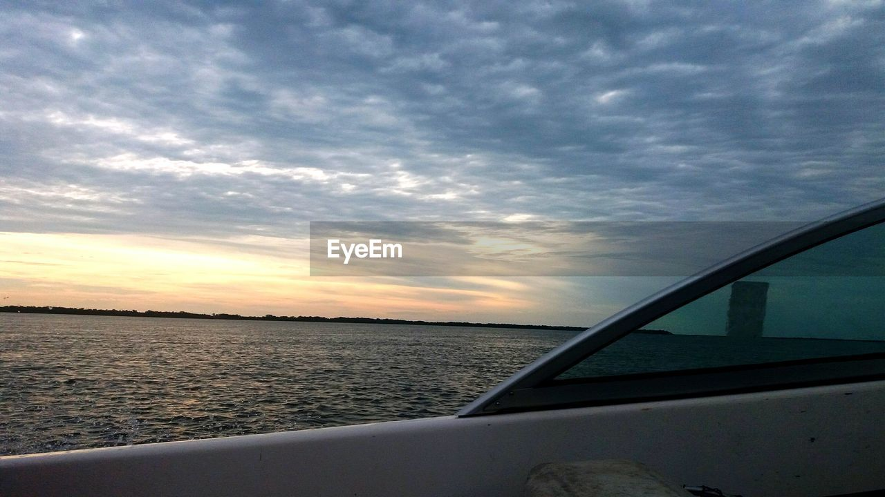 sky, sunset, sea, cloud - sky, water, scenics, mode of transport, transportation, beauty in nature, nature, nautical vessel, no people, horizon over water, tranquil scene, tranquility, outdoors, yacht, close-up, day