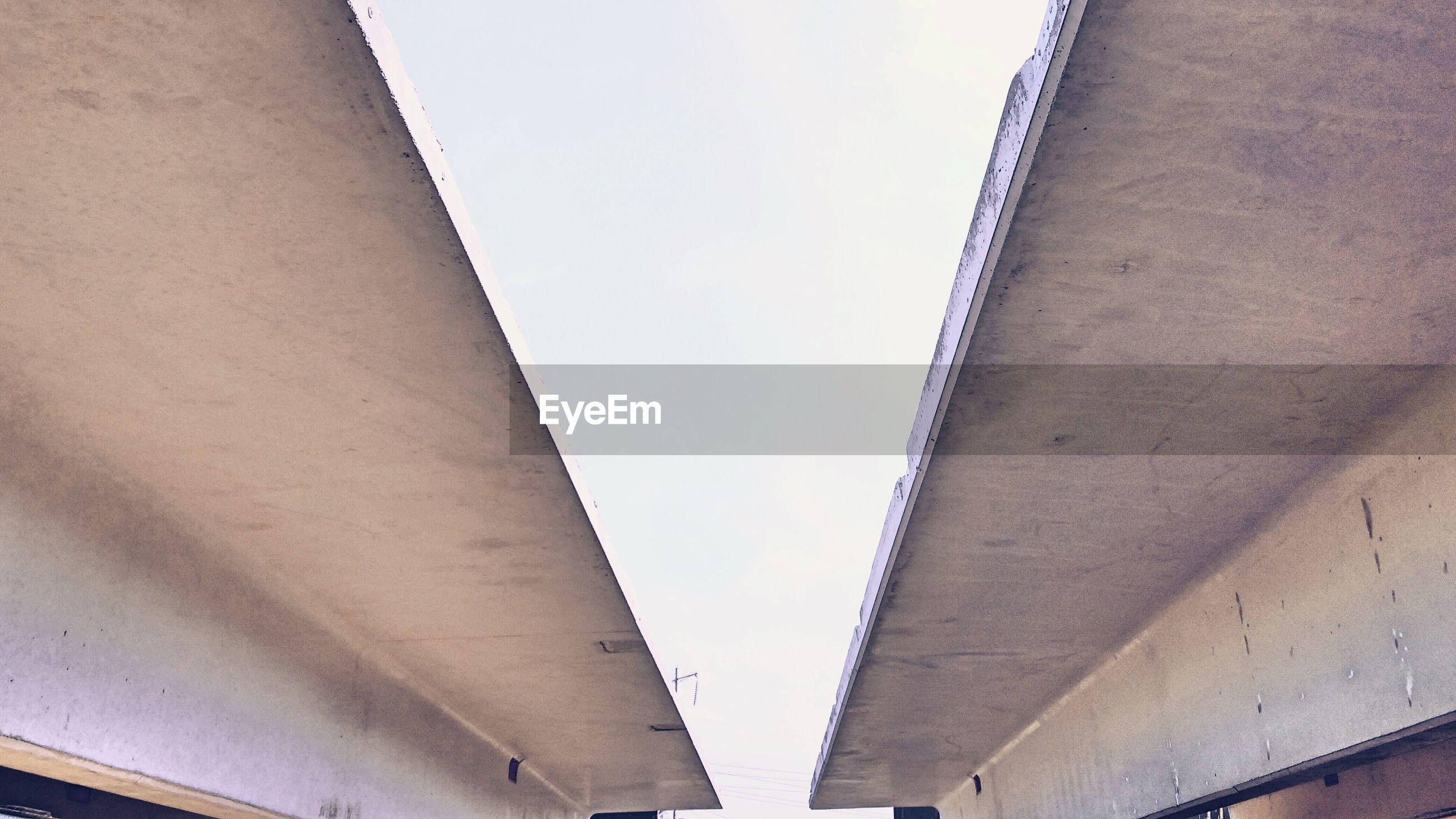 Sky between roofs