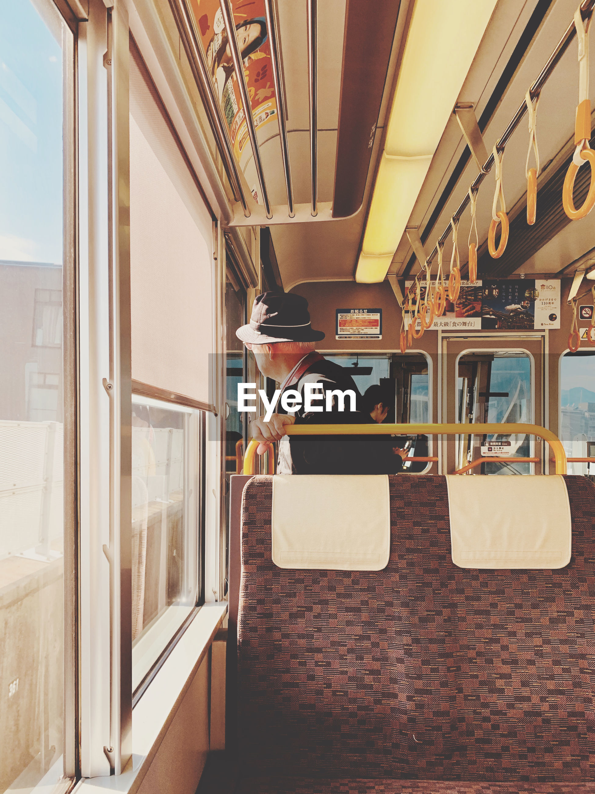 VIEW OF TRAIN IN BUS