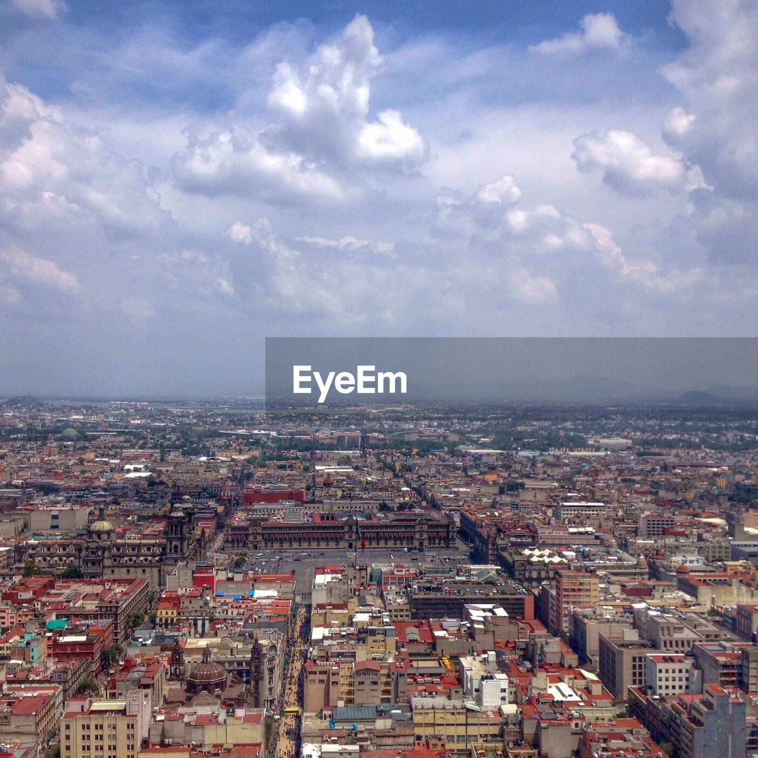 View of urban sprawl