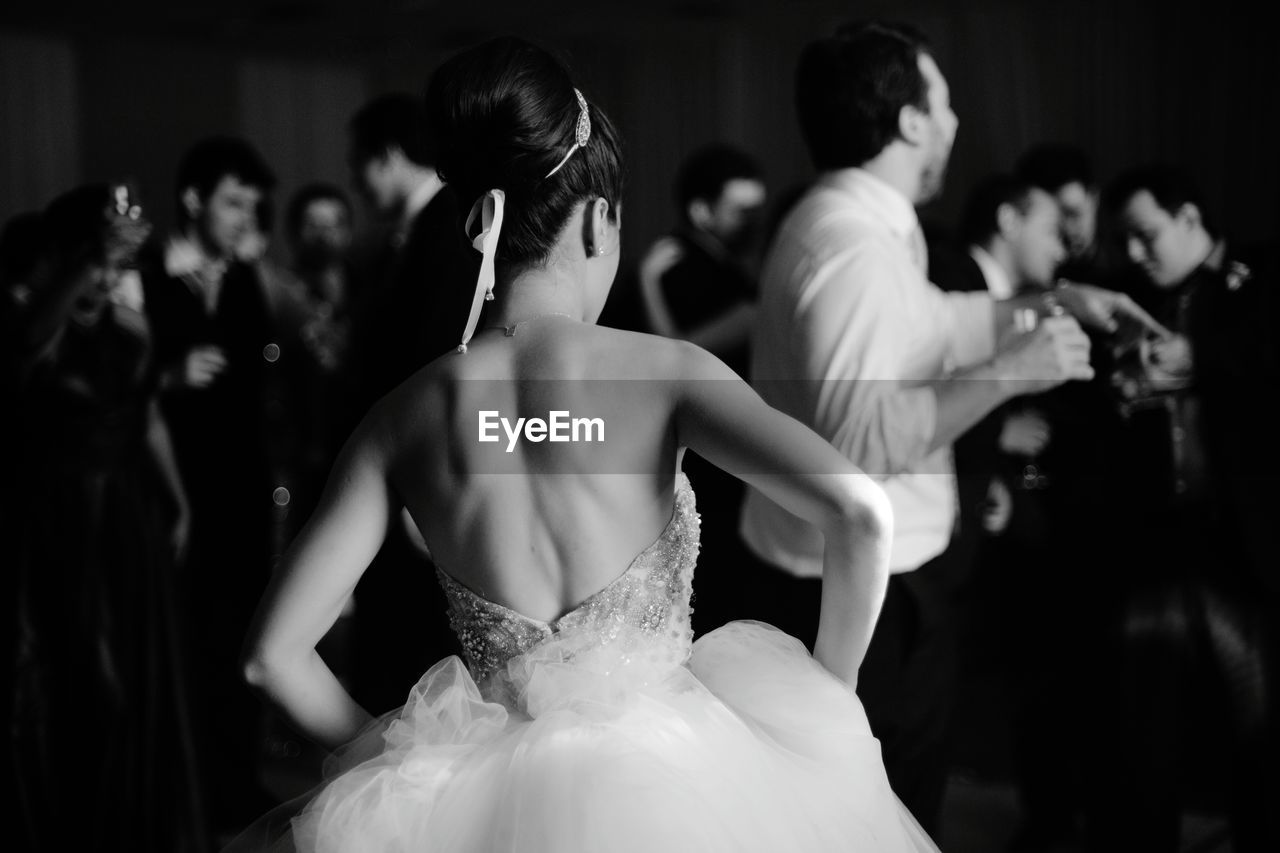 Rear View Of Bride In Marriage