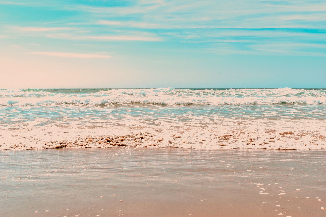 water, sea, scenics - nature, beauty in nature, sky, tranquility, tranquil scene, land, no people, waterfront, nature, cloud - sky, beach, non-urban scene, idyllic, day, motion, horizon, remote, outdoors, horizon over water