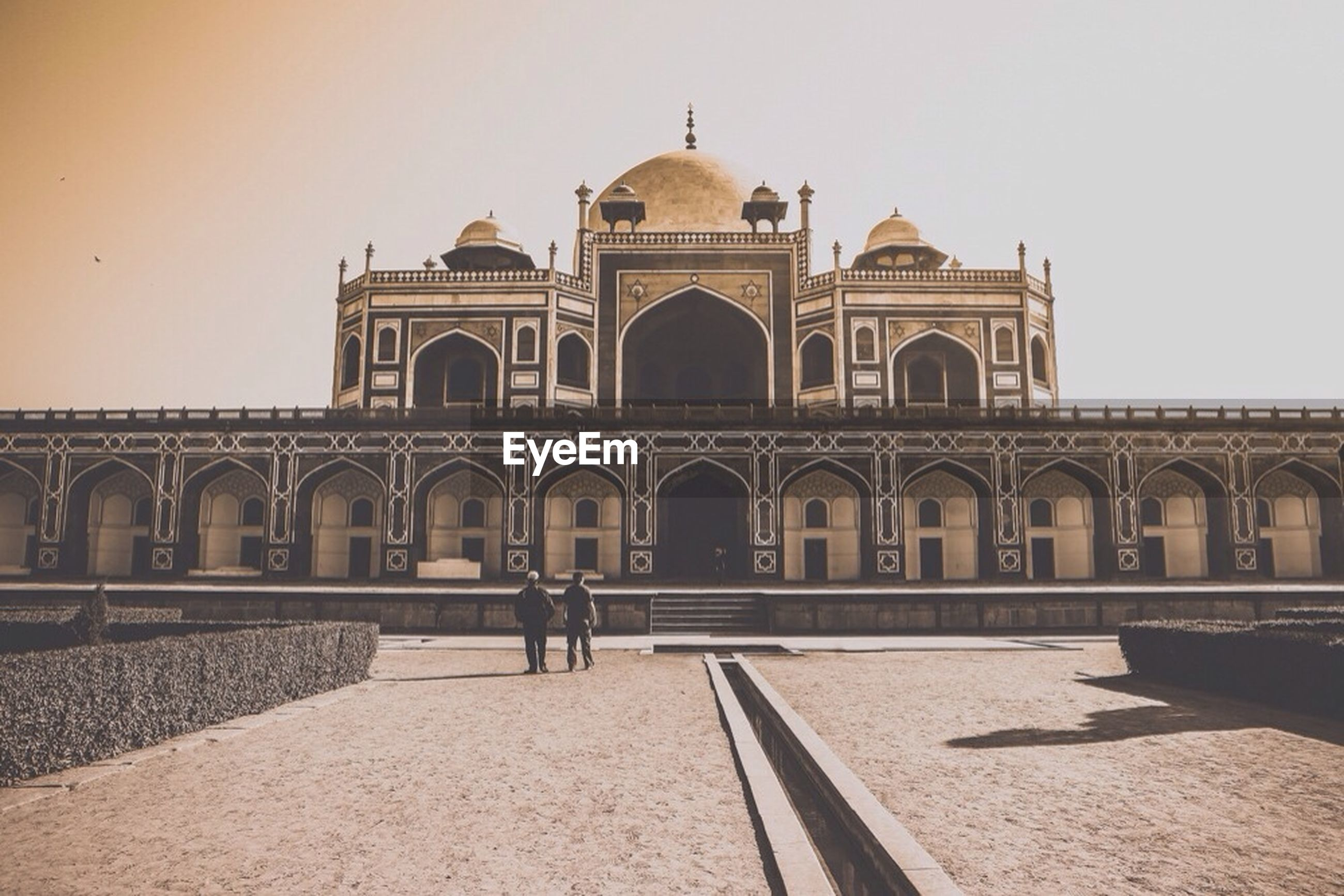 Exterior of humayuns tomb against clear sky