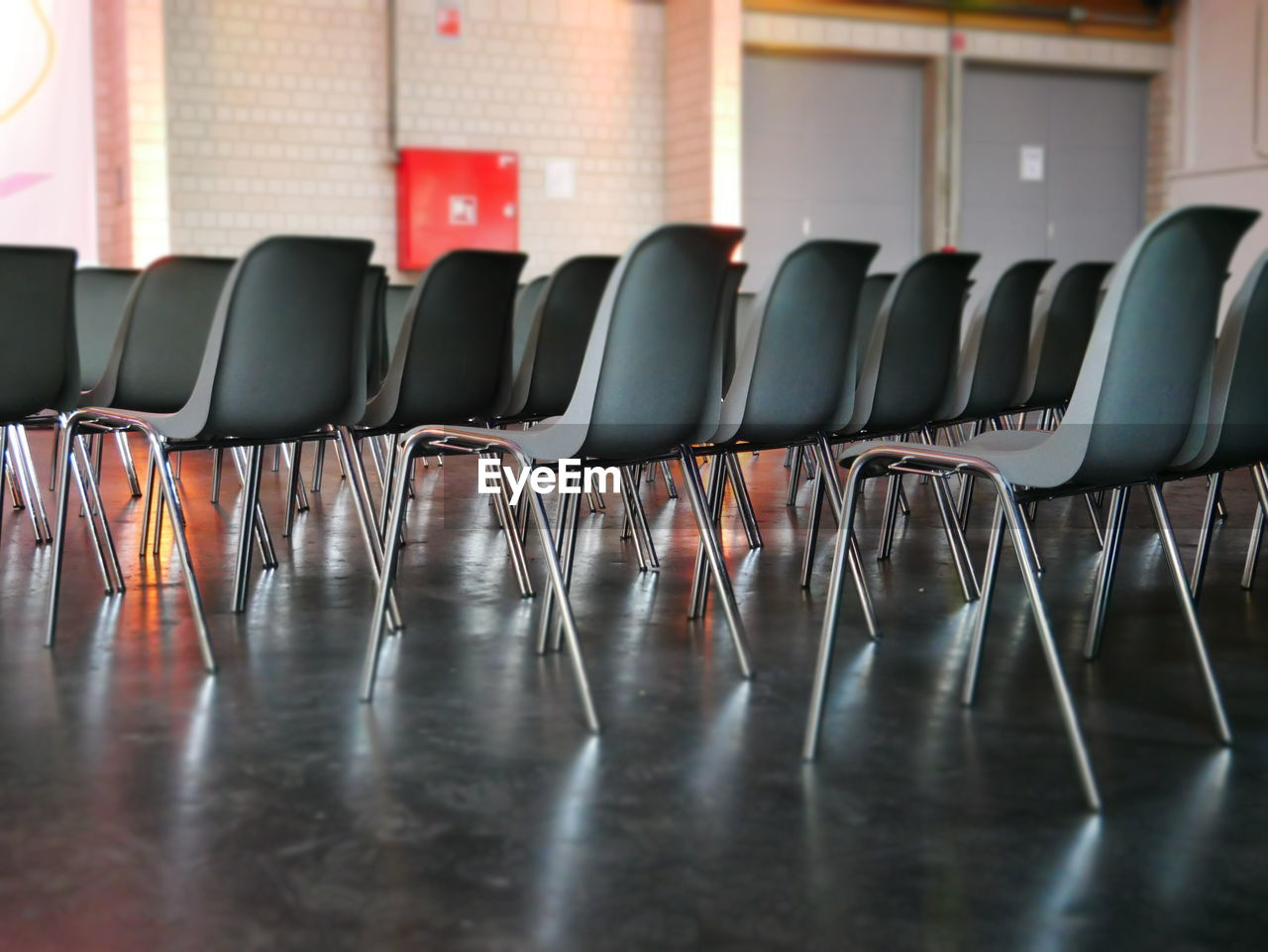 Empty chairs in seminar hall