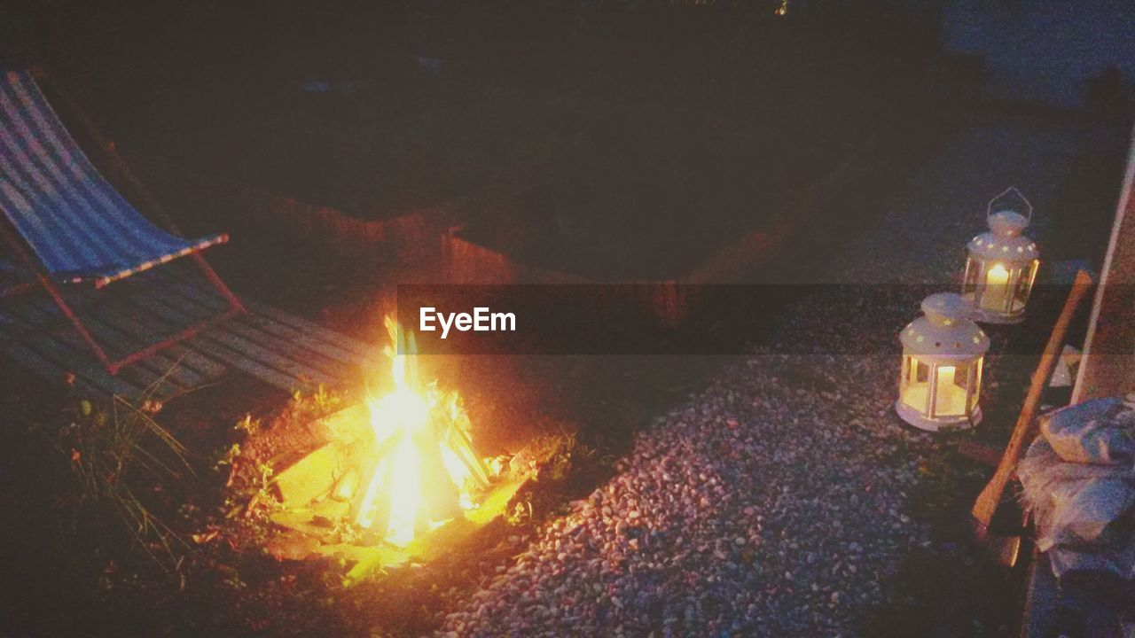 Bonfire In Backyard