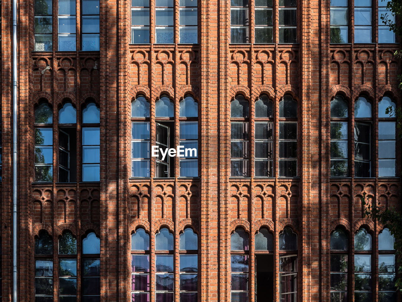 Full Frame Shot Of Historic Red Brick Building