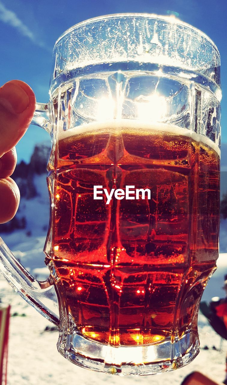 drink, refreshment, food and drink, drinking glass, close-up, alcoholic drink, beer, alcohol, table, freshness, outdoors, no people, day