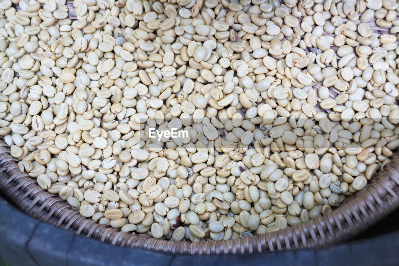 Close-Up Of Raw Coffee Beans