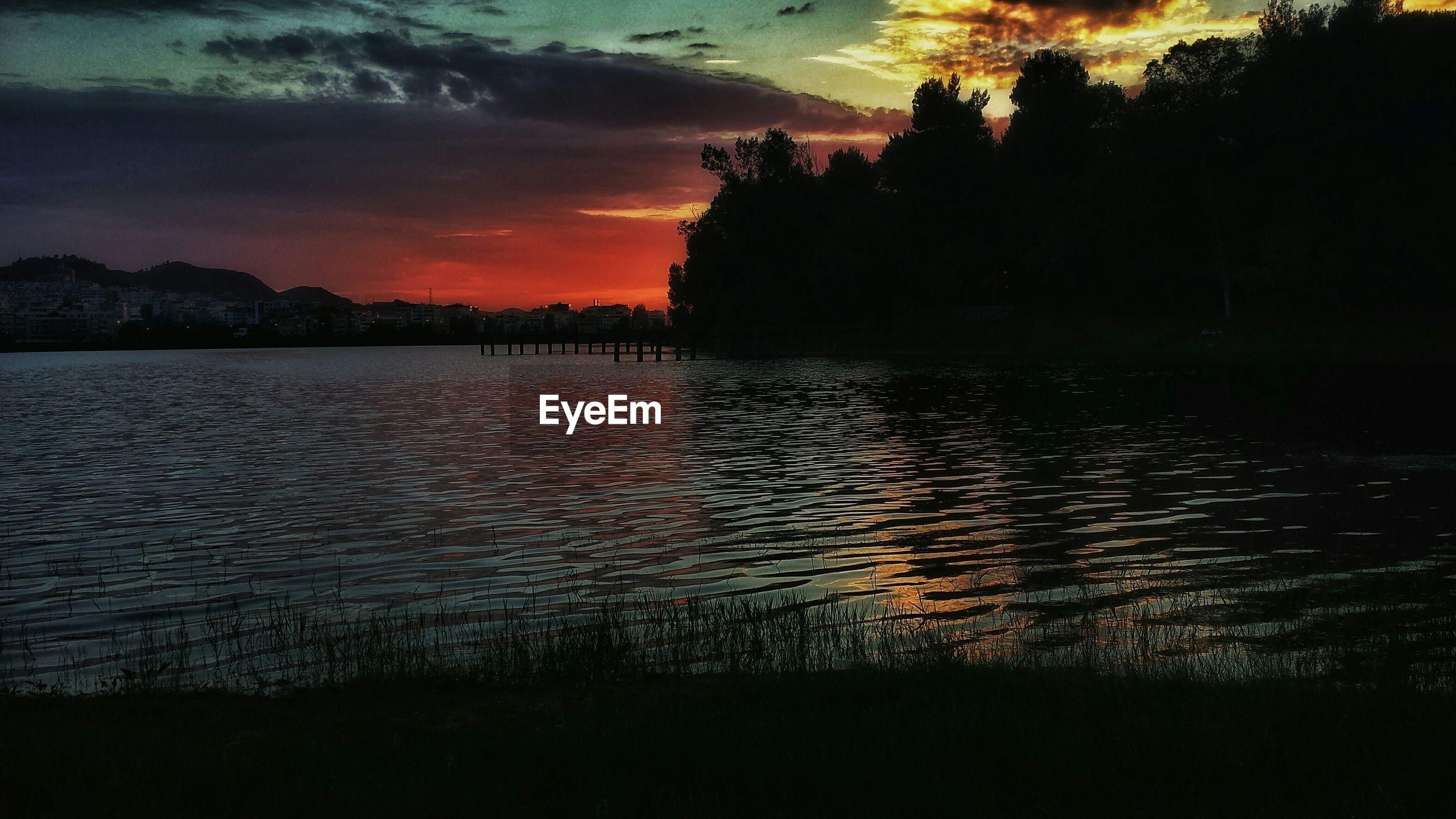 Dusky sky over water