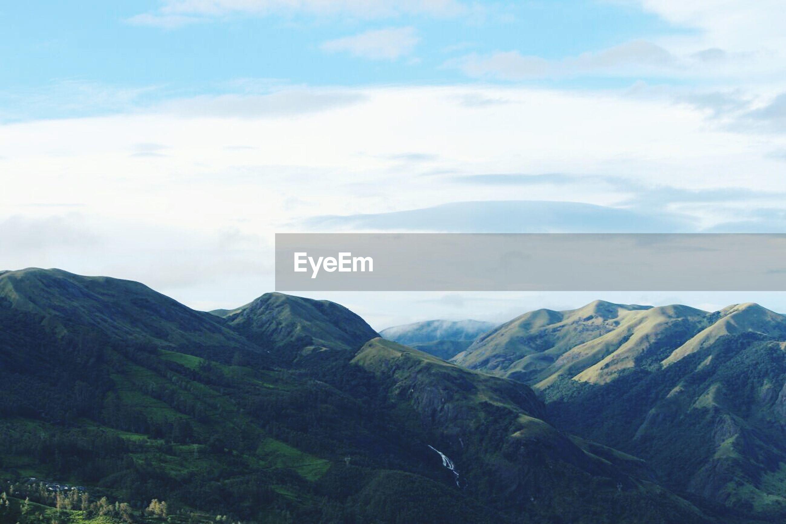LOW ANGLE VIEW OF MOUNTAIN RANGE