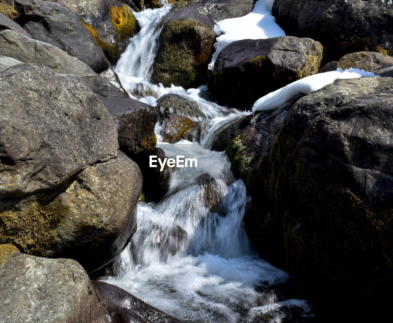 rock, water, rock - object, solid, motion, beauty in nature, flowing water, scenics - nature, long exposure, waterfall, nature, blurred motion, no people, flowing, day, land, sea, sport, forest, outdoors, stream - flowing water, power in nature, purity, running water