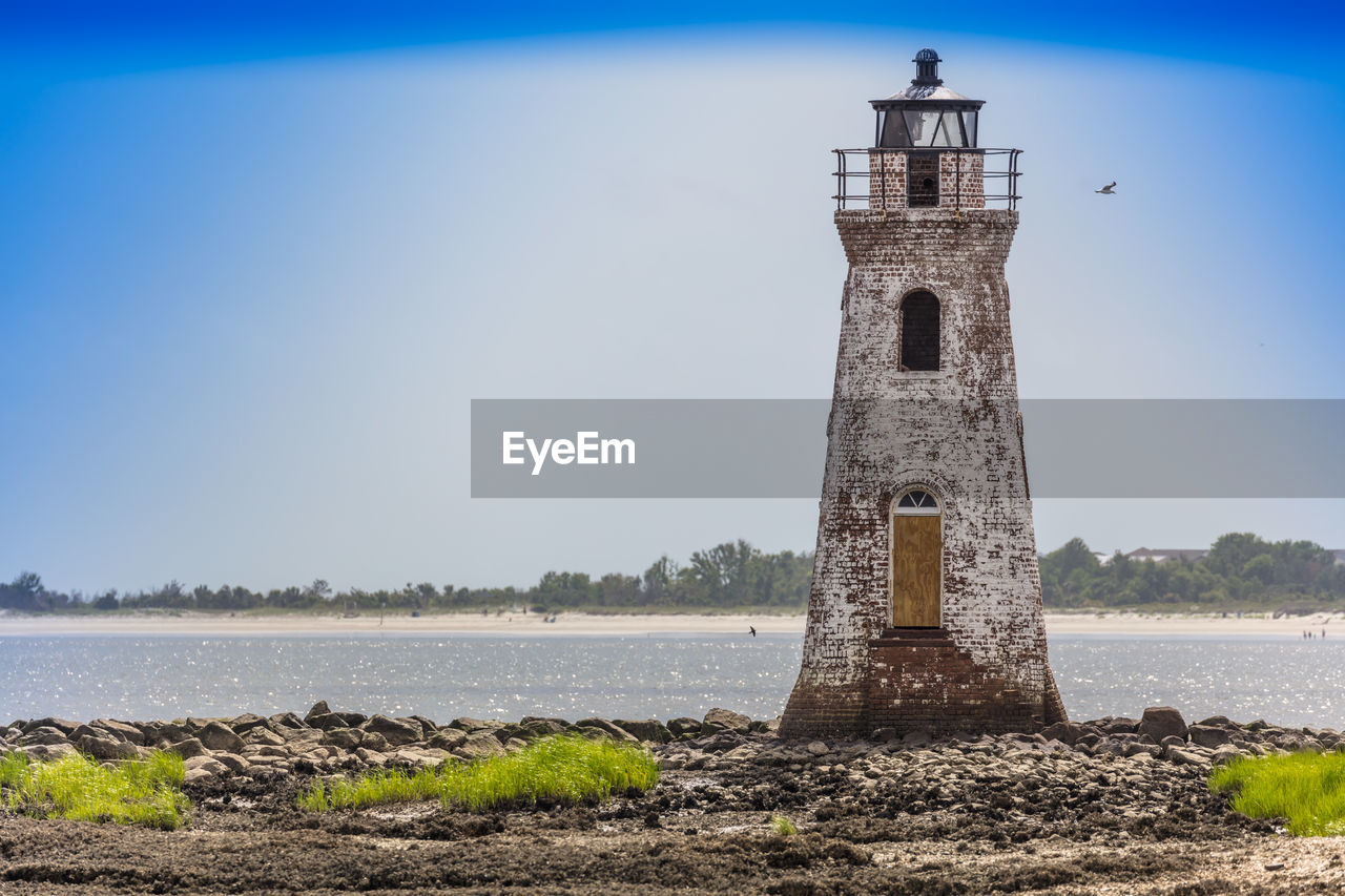 architecture, history, no people, lighthouse, built structure, water, sky, day, outdoors, nature