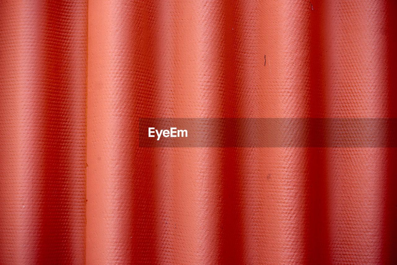Full Frame Shot Of Red Textile
