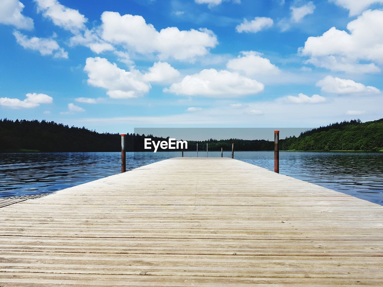 pier, lake, sky, jetty, water, nature, wood paneling, cloud - sky, tranquility, the way forward, tranquil scene, beauty in nature, scenics, no people, outdoors, tree, day