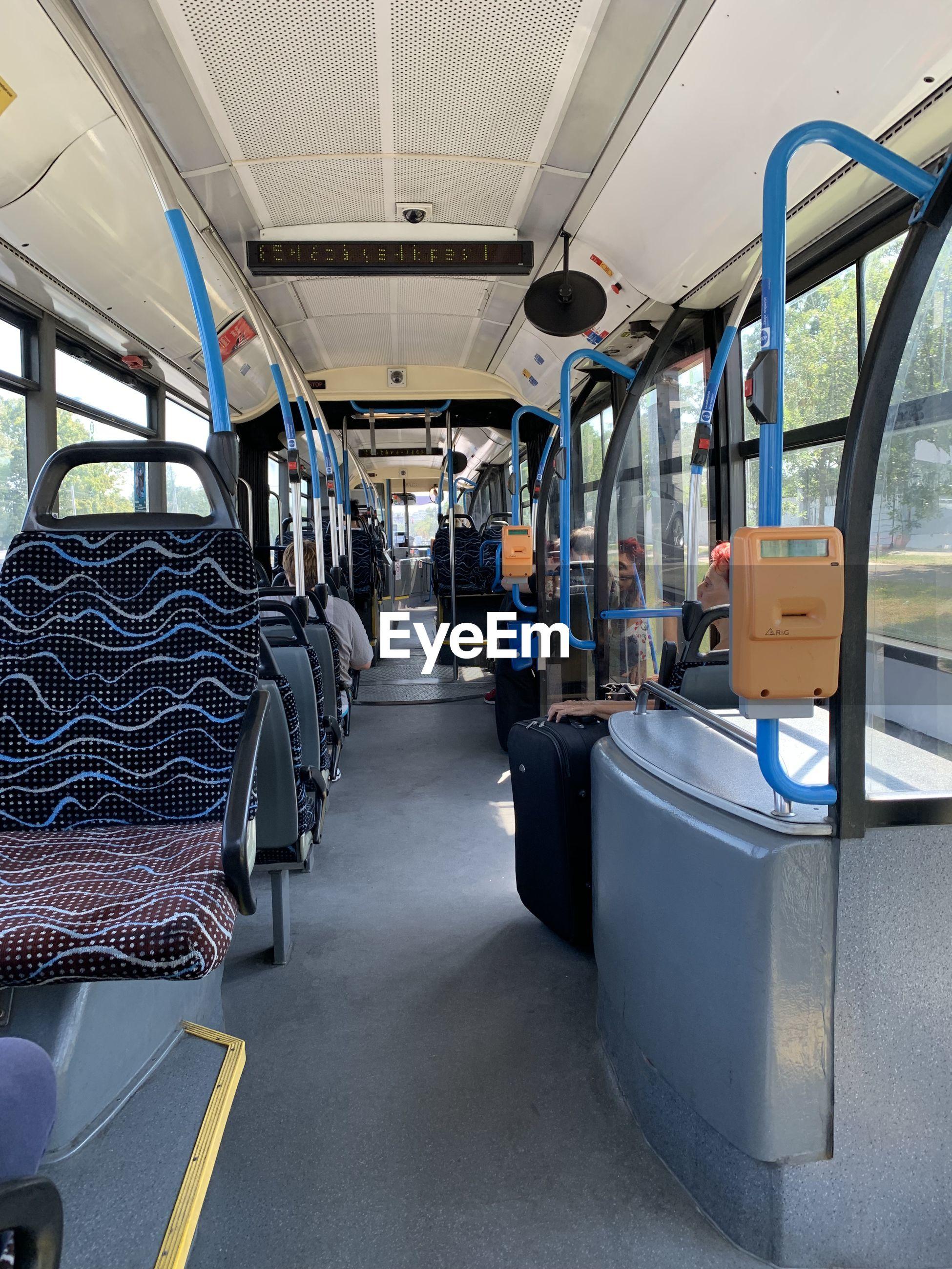 Empty seats in bus