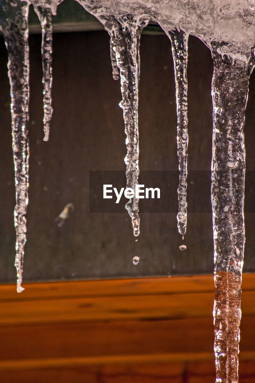 water, motion, drop, icicle, cold temperature, ice, refreshment, close-up, no people, purity, nature, winter, day, indoors, freshness, dripping, beauty in nature