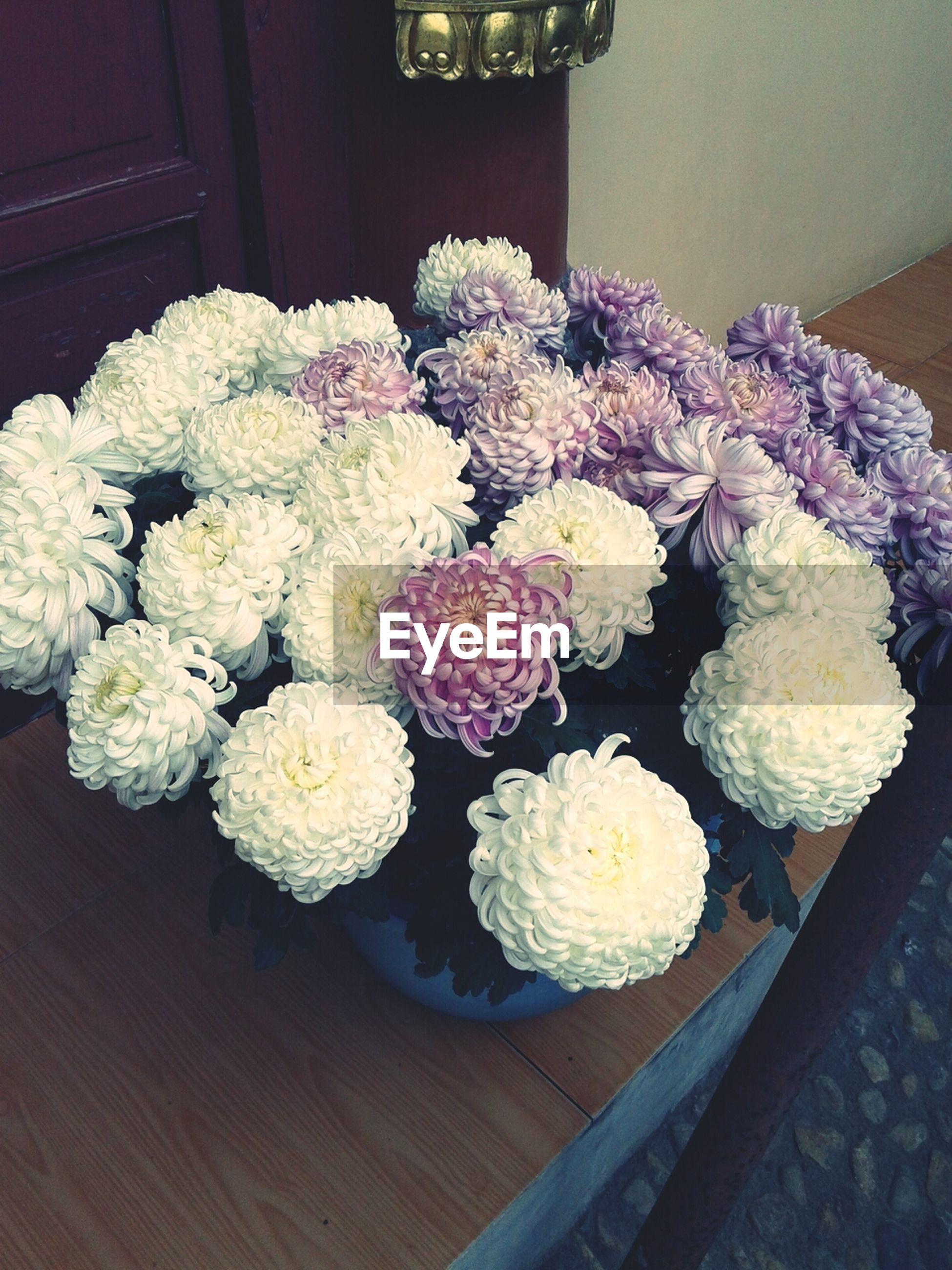 flower, freshness, indoors, fragility, bunch of flowers, beauty in nature, bouquet, petal, nature, growth, plant, vase, abundance, flower head, variation, arrangement, close-up, no people, high angle view, decoration