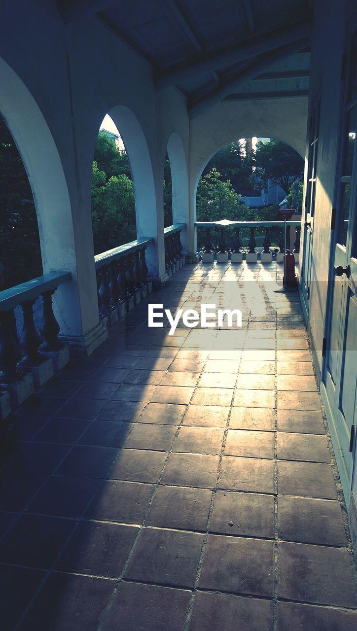 Sunlight Falling In Balcony Of House
