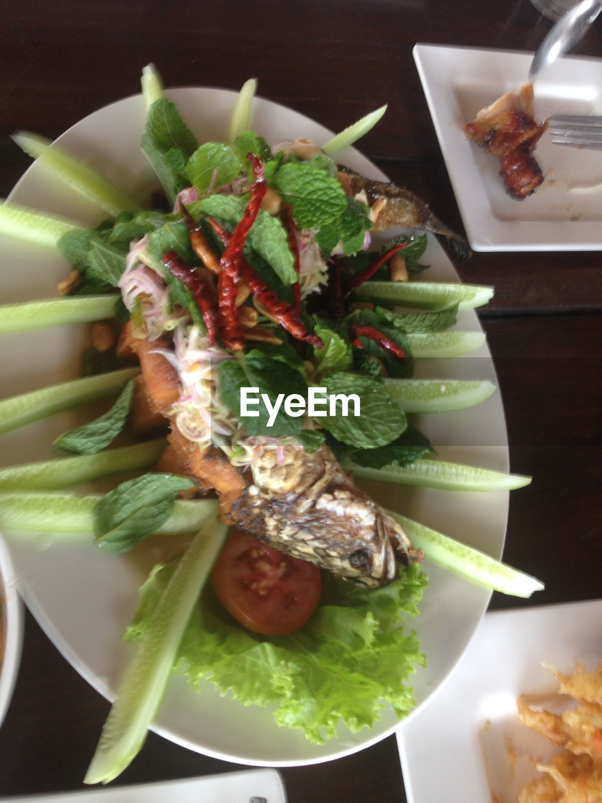 food and drink, food, indoors, freshness, healthy eating, still life, plate, seafood, ready-to-eat, close-up, table, vegetable, meal, serving size, salad, high angle view, fish, indulgence, meat, slice