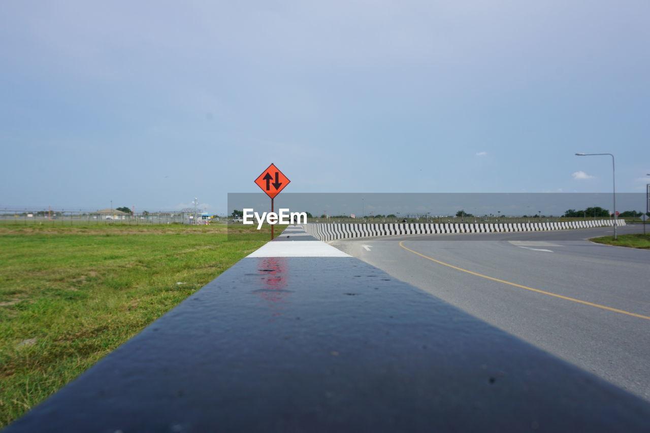 Arrow Symbols By Field At Roadside